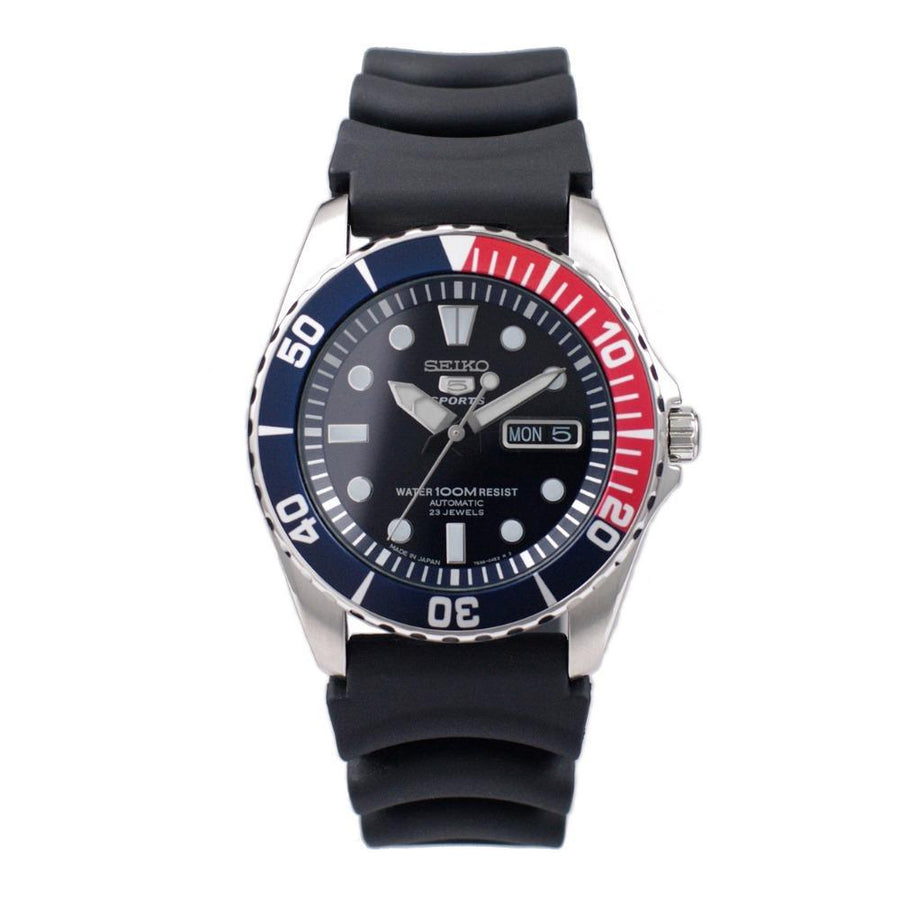 SEIKO 5 Sports Automatic Blue Dial Pepsi Bezel Men's Watch men watch analog Watches-Direct-SA