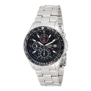 SEIKO Chronograph Black Dial Men's Watch men watch analog Watches-Direct-SA