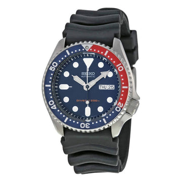 SEIKO Divers Automatic Blue Dial Black Rubber Strap Men's Watch men watch analog Watches-Direct-SA