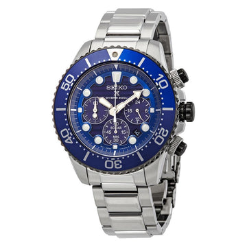 SEIKO Prospex Chronograph Quartz Blue Dial Men's Watch men watch analog Watches-Direct-SA