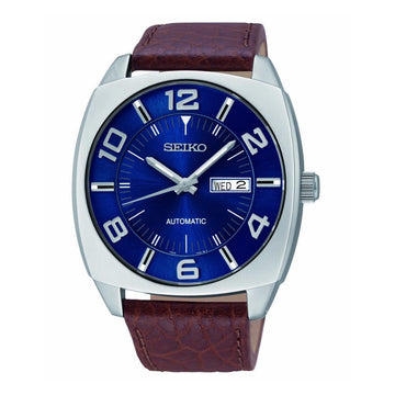 SEIKO Recraft Automatic Blue Dial Brown Leather Men's Watch men watch analog Watches-Direct-SA