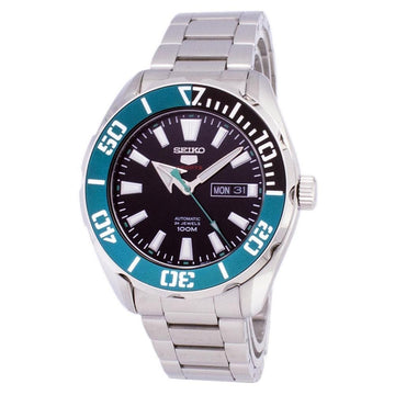 SEIKO Series 5 Automatic Black Dial Batman Bezel Men's Watch men watch analog Watches-Direct-SA
