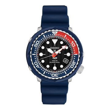 SEIKO Solar Black Dial Pepsi Bezel Men's Watch men watch analog Watches-Direct-SA