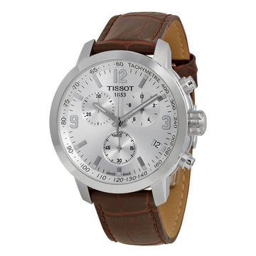 TISSOT PRC 200 Chronograph Silver Dial Men's Watch T0554171603700 men watch analog Watches-Direct-SA