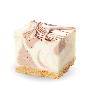 Caramel Choc Ripple Cheesecake Square