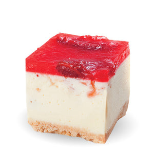 Strawberry and White Chocolate Cheesecake Square