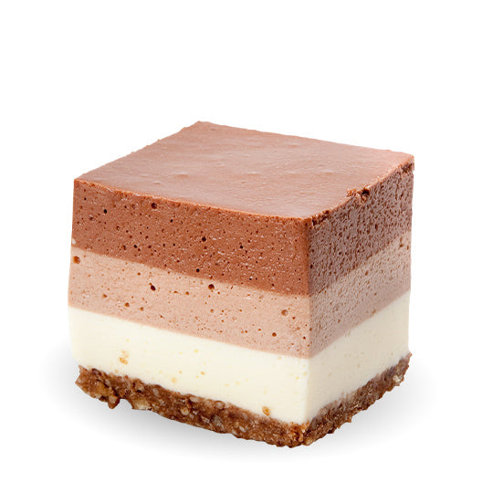 Triple Chocolate Cheesecake Square