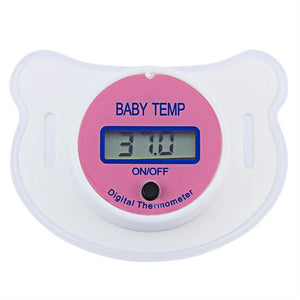 Safe Practical Mouth Nipple Temperature Baby LCD Digita Pacifier Thermometer j