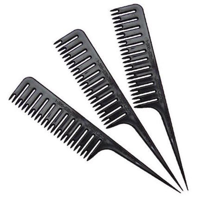 Set of 3 black Highlighting combs to make weaving easy, weave a full head in minutes. Set of 3