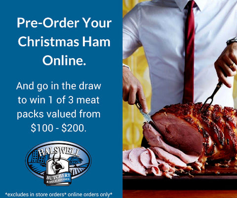 carving  christmas ham