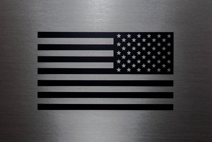 Reverse Flag Decal-Black