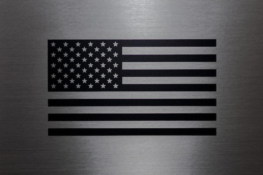 Black American Flag Decal