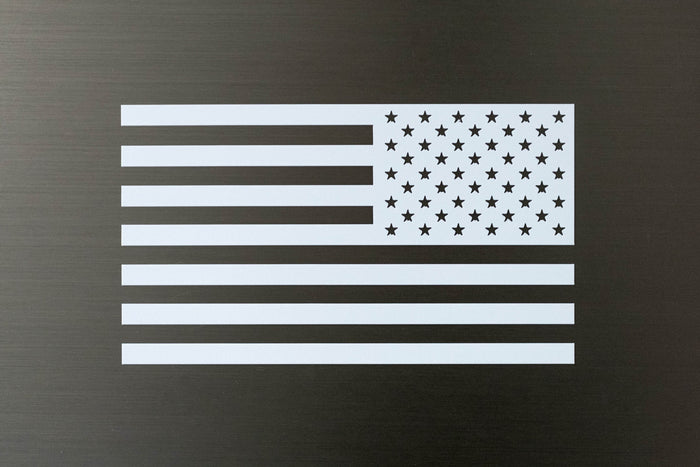 Reverse Flag Decal-White