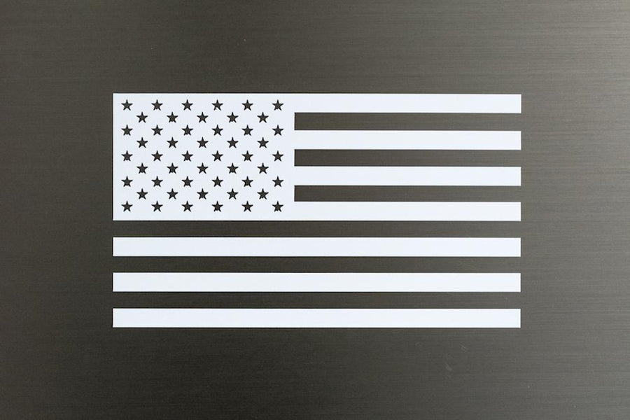 White America Flag Decal