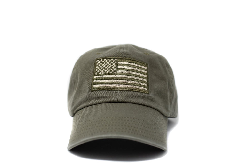 American Flag Hat- Green