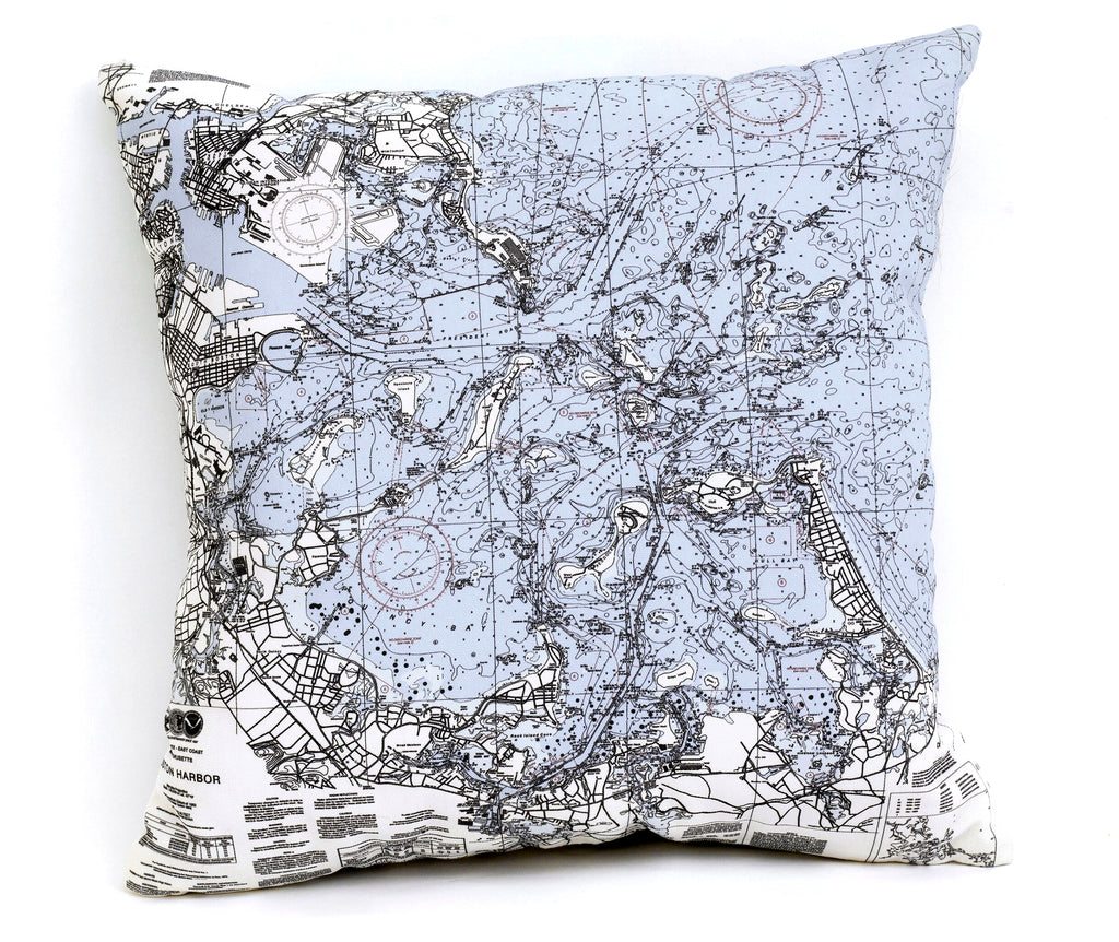 boston embroidered pillow hand