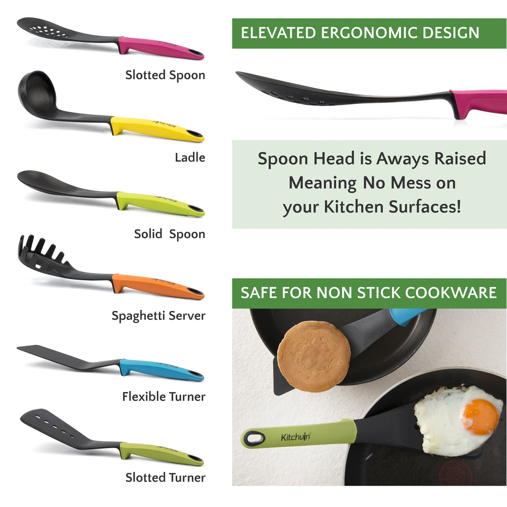 Heat Resistant Kitchen Utensils Set – 6 Piece