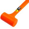 "2lb DEAD BLOW Hammer Mallet Plastic Neon Orange 13-3/8"" non spark double face"