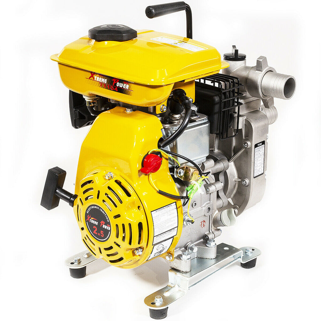 "2.5HP Portable Gas Water Pump Semi Trash 1.5"" Air Cooled Engine"
