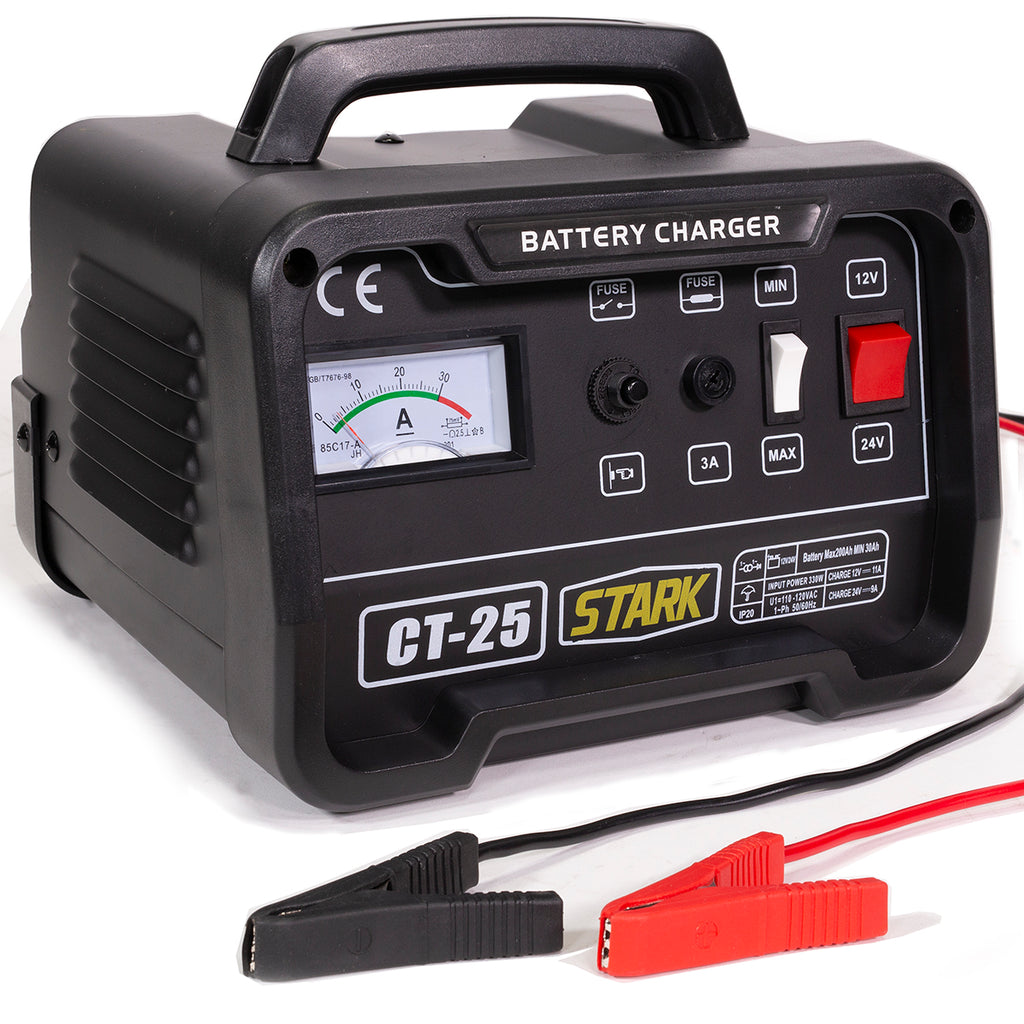 12/24 Volt Battery Charger Automotive Car Boat Engine Starter Booster 10/25 AMP
