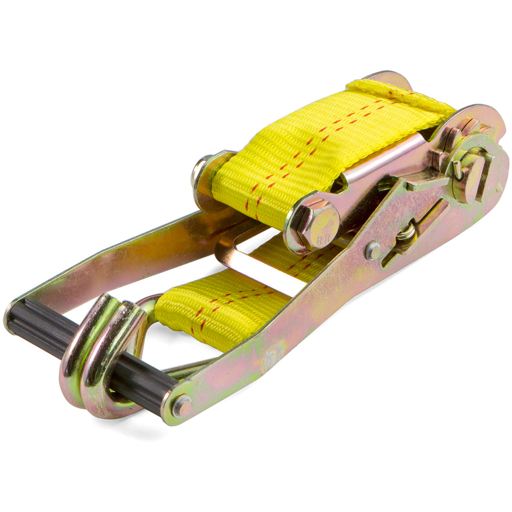 "2"" x 27' Tie Down Ratchet Strap w/ J-Hook Truck Towing Cargo Hauling 10,000 lbs"