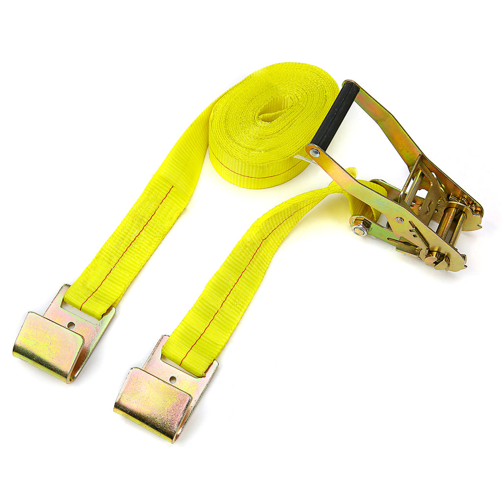 Heavy Duty Tie Down Straps 2 in. x 27 ft. 10000 LBS. F-Hook Type Tough Ratchet