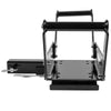 Universal Recovery Winch Cradle Mount Bracket Plate Adjustable w/ Receiver Hitch