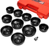 Universal 10pcs Oil Change Filter Cap Wrench Cup Socket Tool Set with Carrying Case
