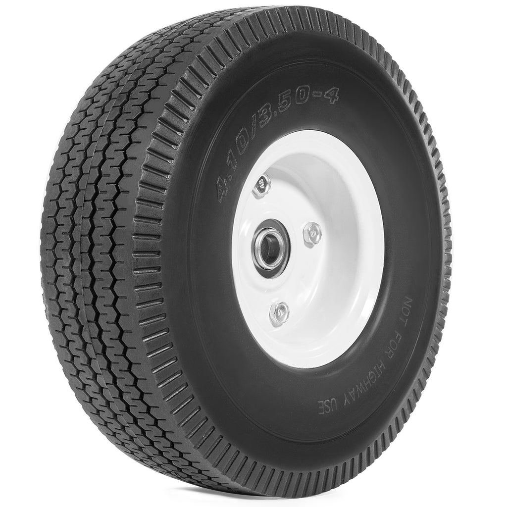 "Flat Free wheel Care Free Offset Hub 10"" Hand Truck Tire dolly 5/8"" ID Bearing"