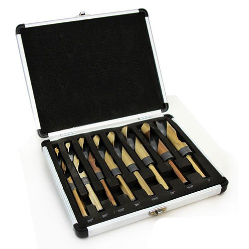XtremepowerUS 8PC HSS Silver and Deming Drill Bits Set with Metal Case