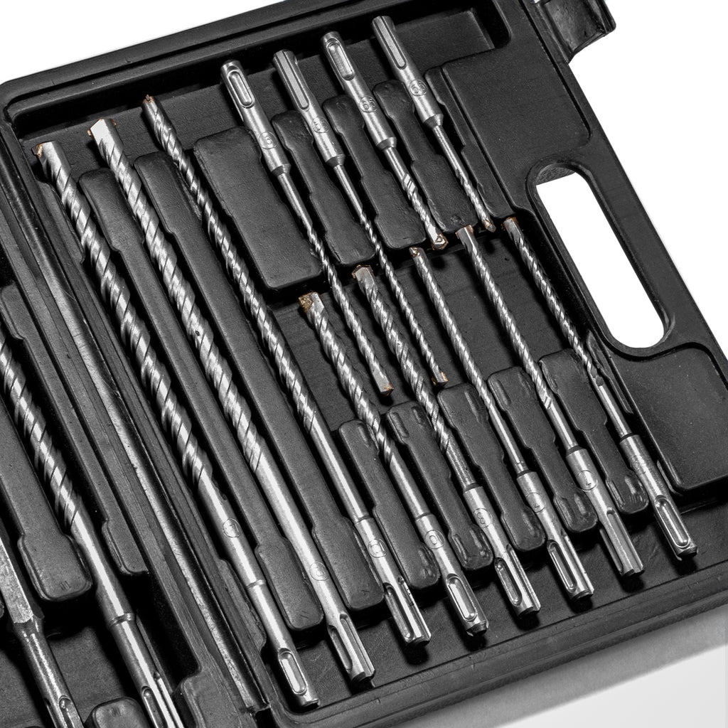 SDS-Plus Tungsten Carbide Rotary Hammer Drill and Chisel Bit Set (17-piece)