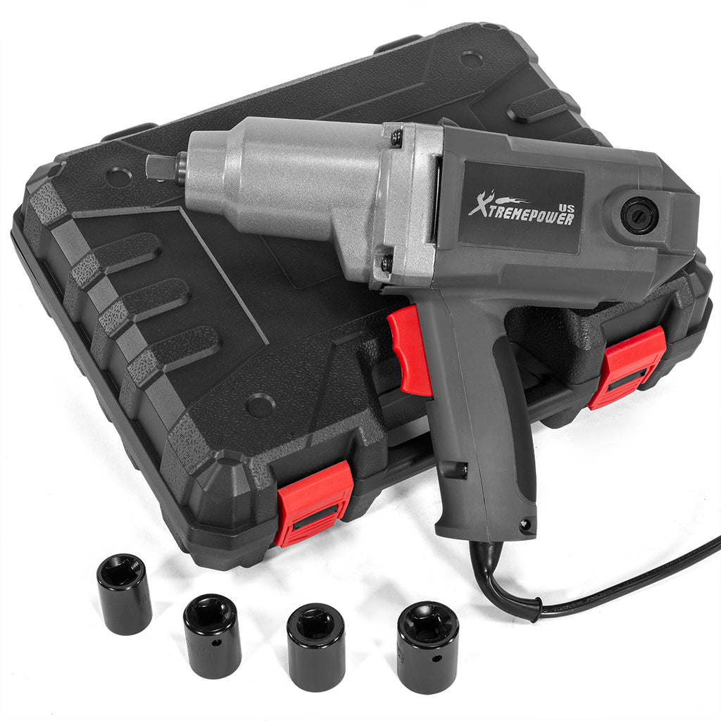 "1/2"" Electric Impact Wrench Anvil Set with (4) Sockets Drive and Carrying Case"