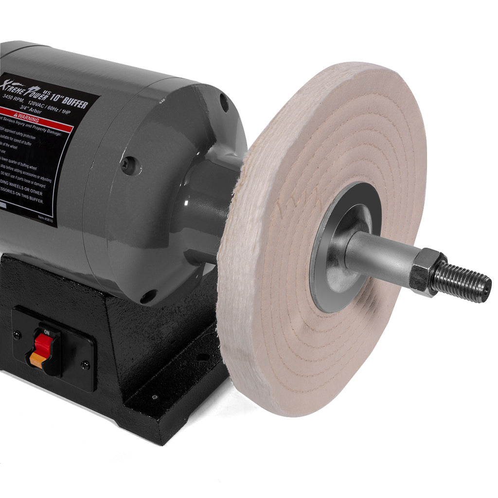 "750w Electric Polisher 1hp Benchtop Polishing Grinder Buffer Dual Pad 10"" inch Buffer"