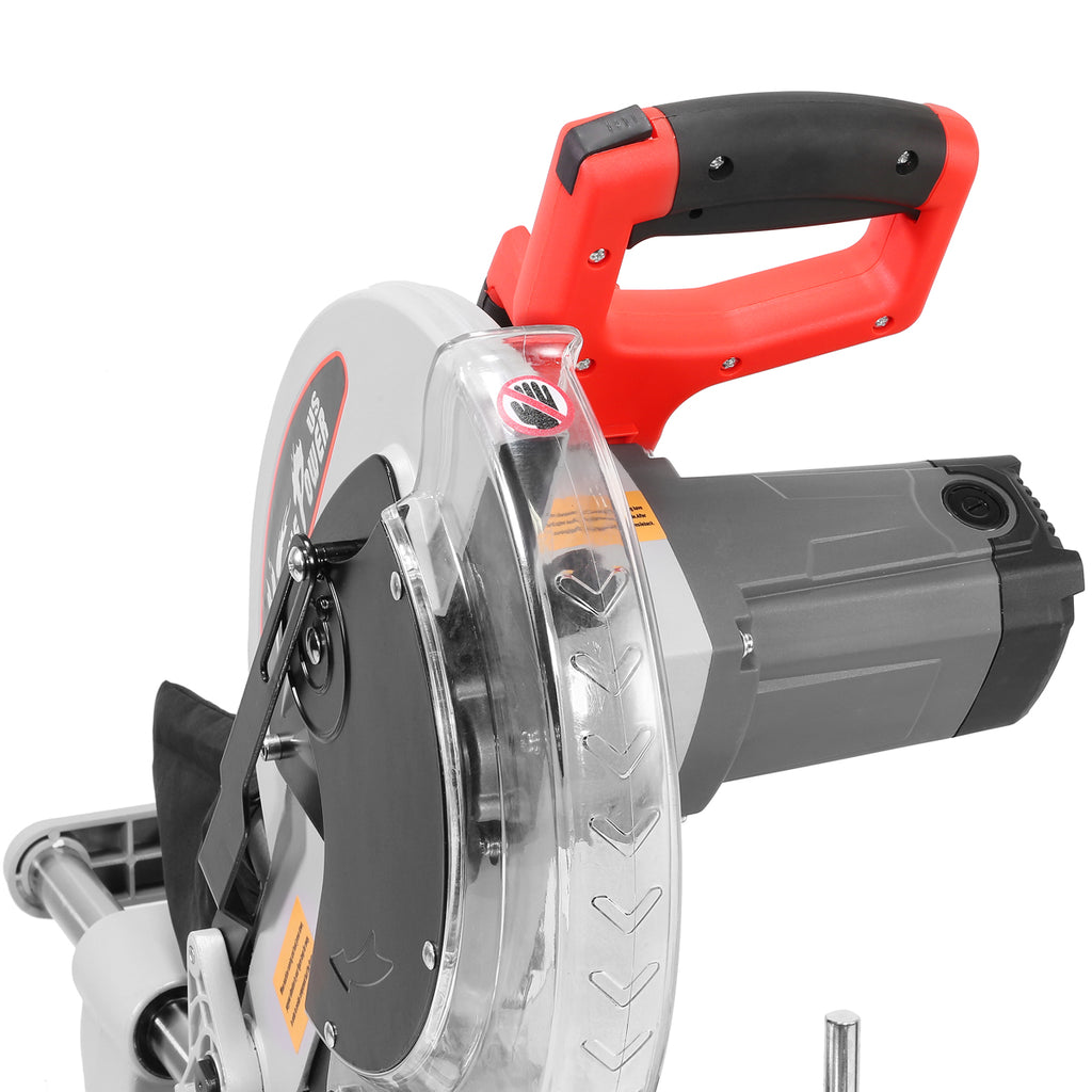"12"" Corded Miter Saw Single Bevel Sliding Compound Power Tool Compact Potable"