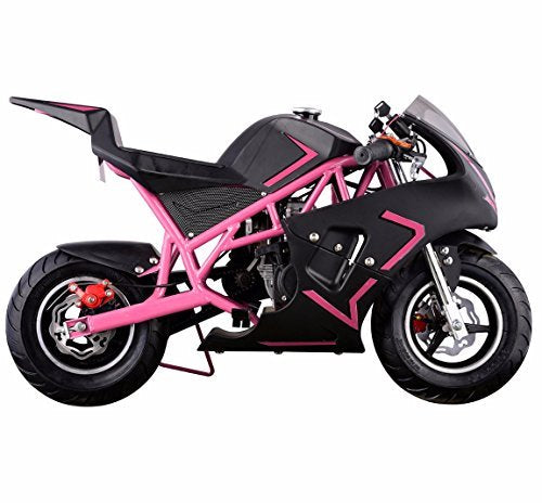 Gas-Powered Mini Pocket Motorcycle Ride-on Padded Seat 40cc 4-Stroke EPA Approved, Pink