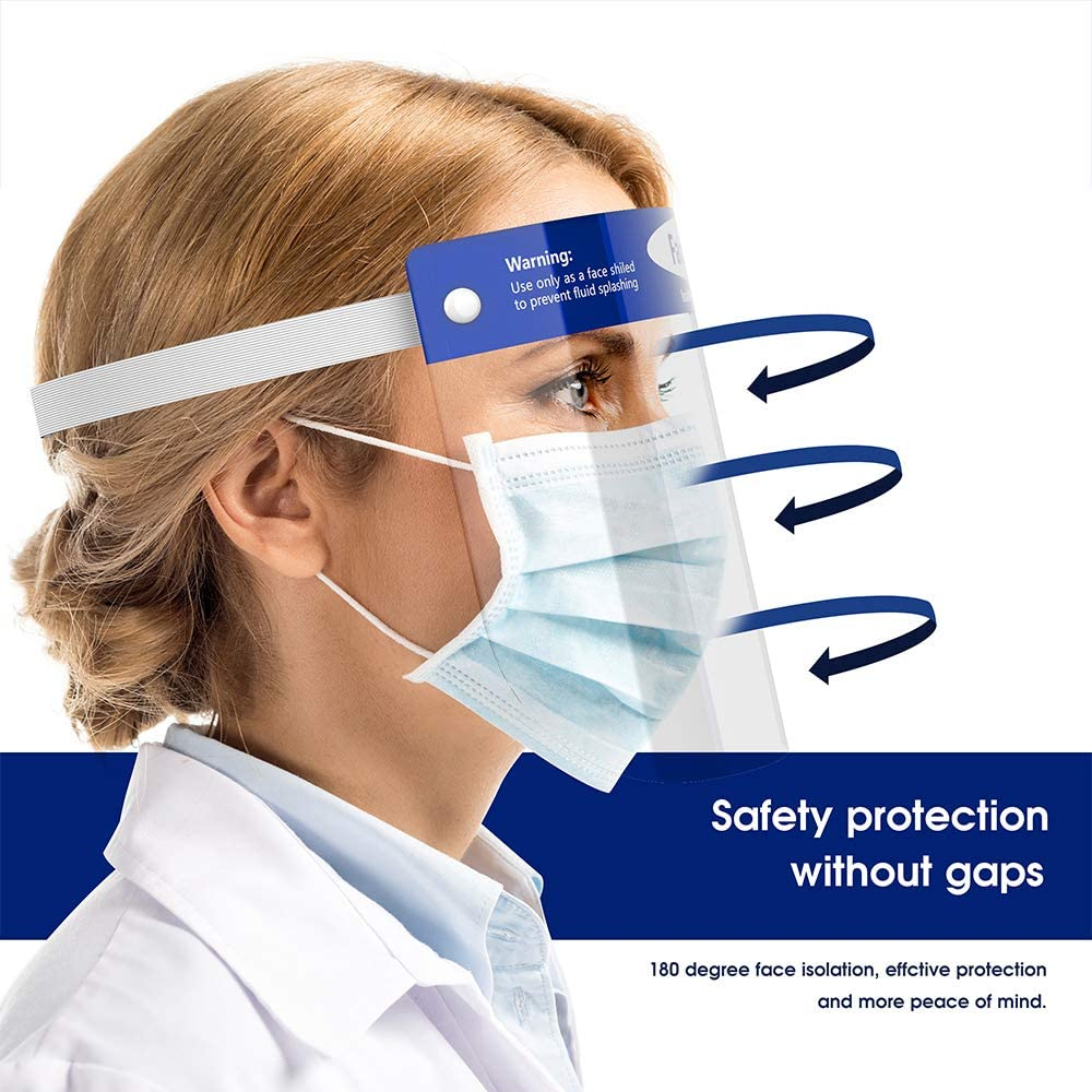 Safety Protective Splash Proof Full Head-mounted Face Eye Shield Screen