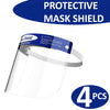 4PCS Safety Protective Splash Proof Full Head-mounted Face Eye Shield Screen