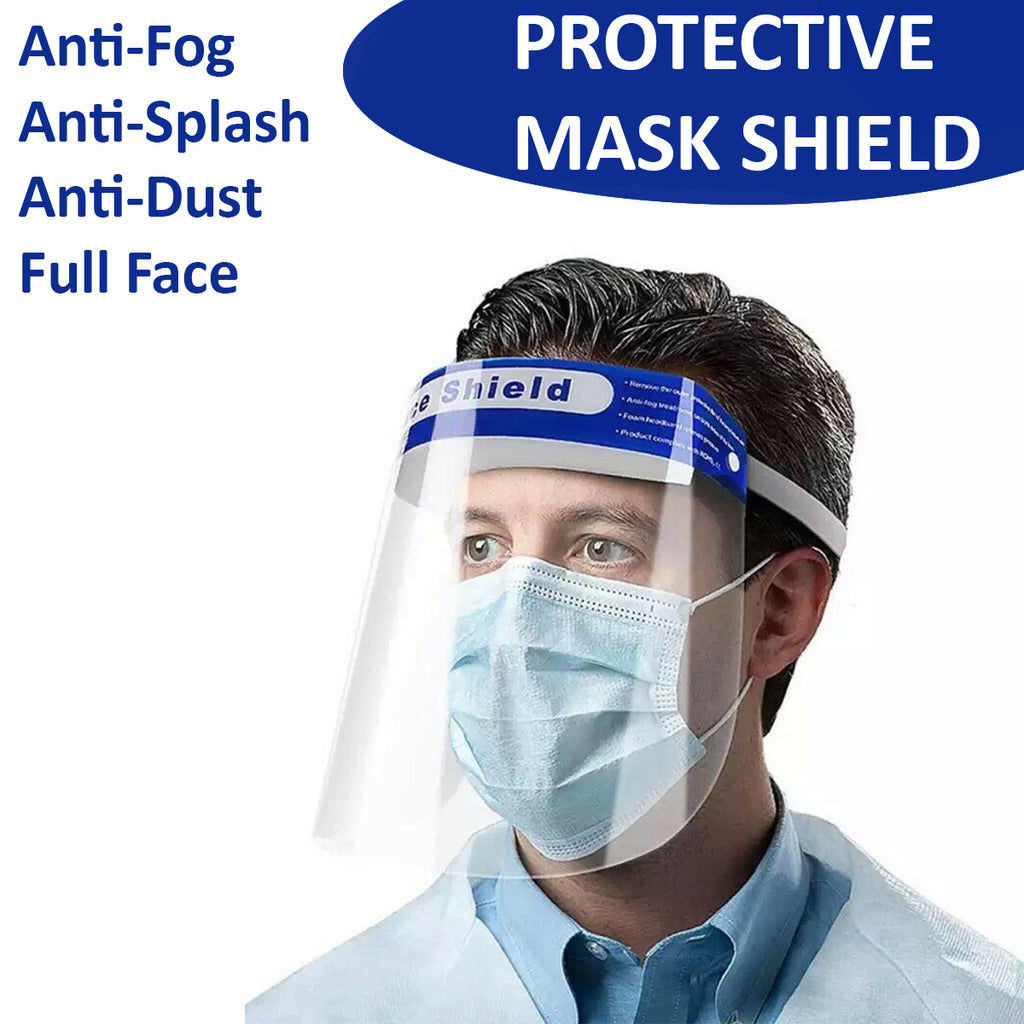 2//4PCS Safety Full Face Shield Reusable Washable Protection Cover Face Mask