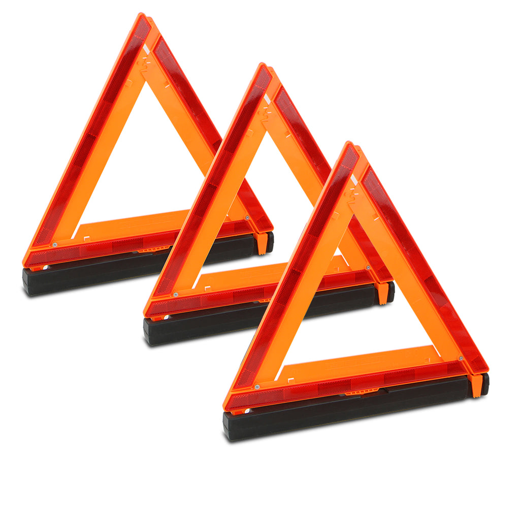 Reflector Warning Triangle Emergency DOT Approved//Road Safety Triangles - kit with fold-able Exclamation Mark 2 Pack Kowenz Car Emergency Kit