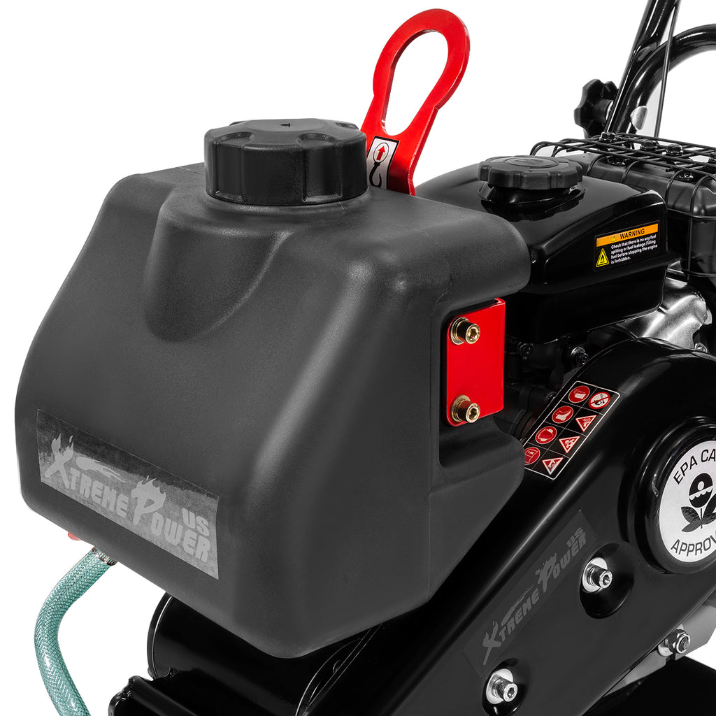 2.5HP Plate Compactor Vibration EPA CARB 1920 lbs Force with Built-in Water Tank