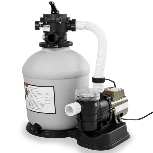 "XtremepowerUS Swimming Pool 16"" Sand Filter with 3100GPH 3/4 hp Pool Pump"