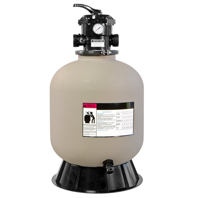 "XtremepowerUS 19"" Inground Pool Sand Filter 7 Way Valve"