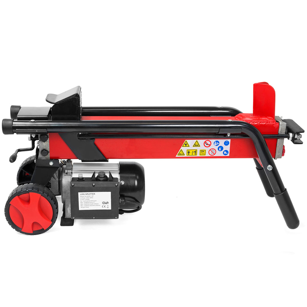 Log Splitter Cut Wood Mobile Electrical 7 Tons Cutter Hydraulic Wheel 3400RPM