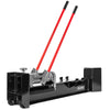 XtremepowerUS Hydraulic Log Splitter Cut Wood Mobile 12 Tons Cutter Manual Operated w/ Wheel