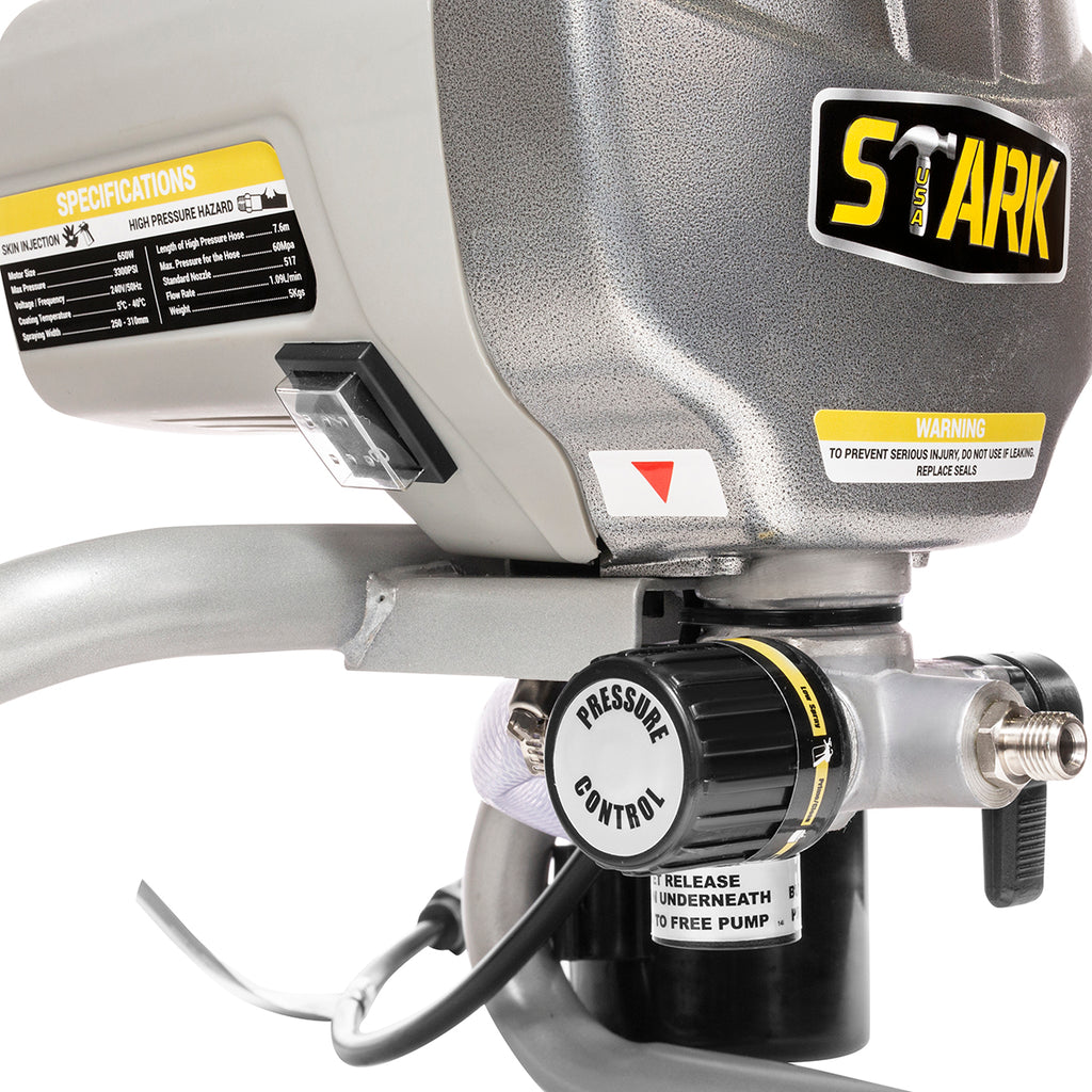 High Pressure 650W Airless Paint Spray Gun Adjustable Sprayer Machine 3300PSI