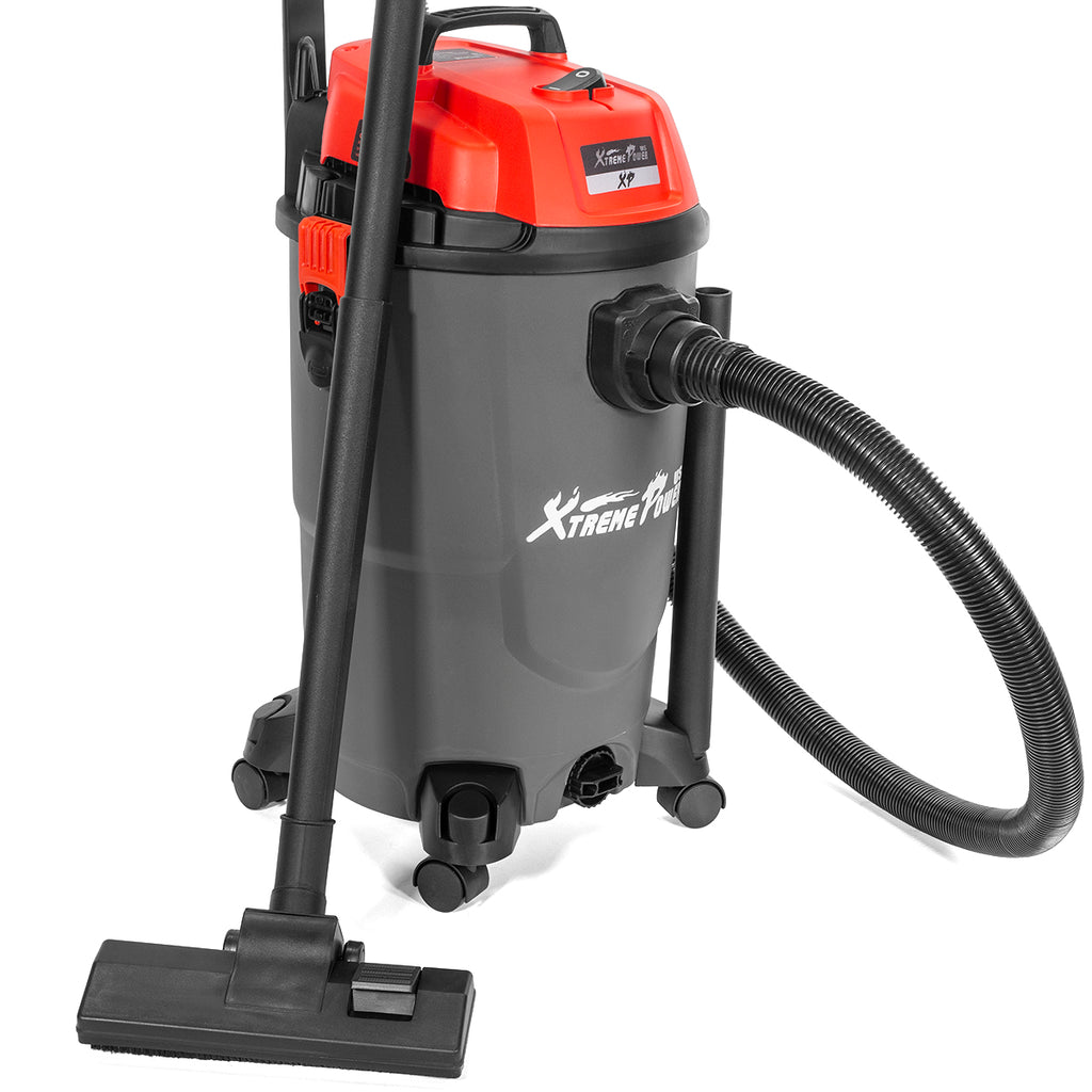 3HP Wet & Dry Shop Vacuum with Blower 8 Gallon 1200W Stainless Steel HEPA Filter