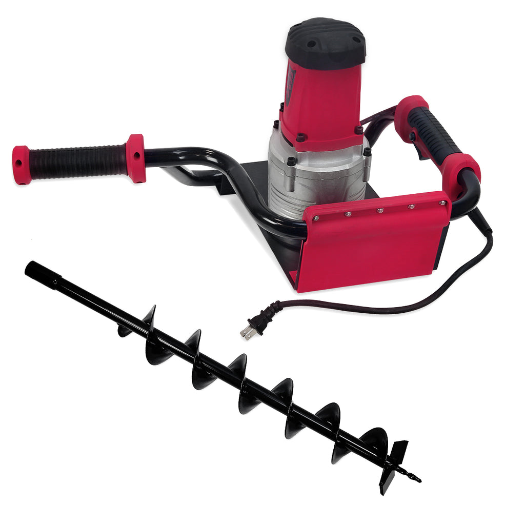 "XtremepowerUS 1.6 HP Electric Post Hole Digger 1200W w/ 4"" Inch Auger Drill Bit"