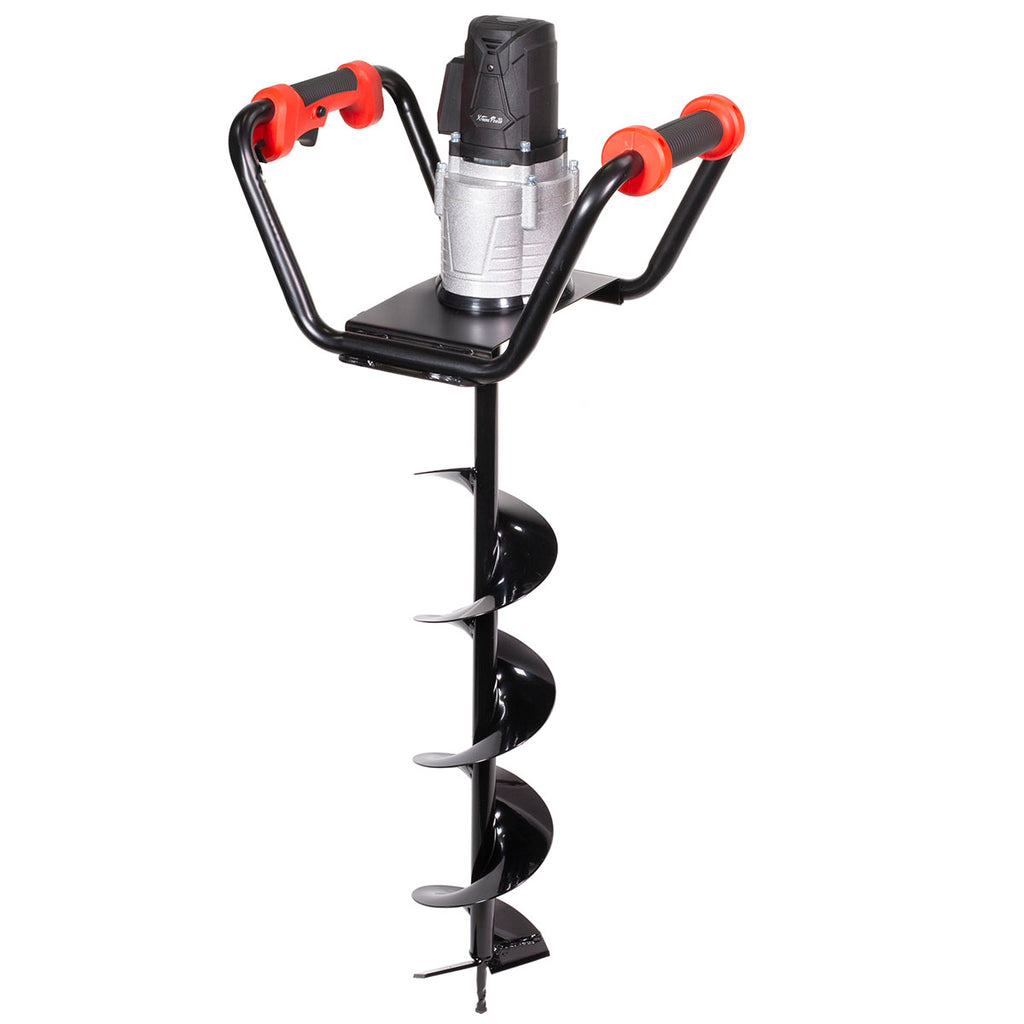 "1500W Electric Post Hole Digger with 6"" inch Digging Auger Drill Bit, Black"