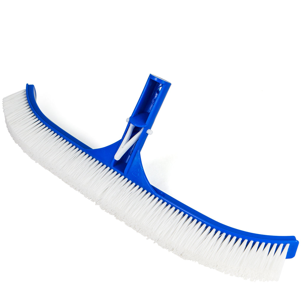"18"" Curved in ground above Swimming Pool Spa Nylon Wall & Floor Brush Blue PVC"