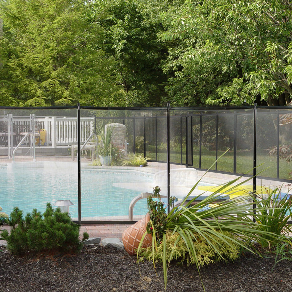 Image of: Swimming Pool Fence 4 X 12ft Water Safety Barrier Removal Able Above Xtremepowerus